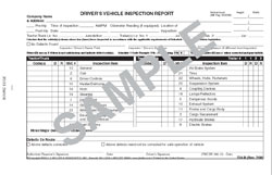 Canadian Driver's Vehicle Inspection Report
