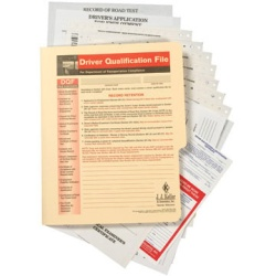 Confidential All In One Driver Qualification File Packet Snap-Out 740-F-P