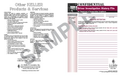 Confidential Driver Investigation History File Packet 860-F-P