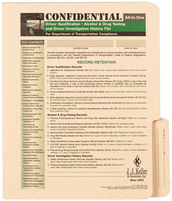 File Folder Only for Confidential Driver Investigation History File Packet 859-F-P