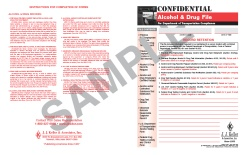File Folder Only for Confidential Alcohol And Controlled Substance File Packet 450-F