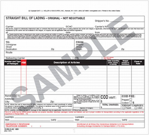 truckers bill of lading form