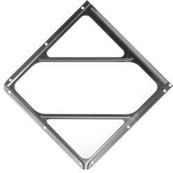 Aluminum Placard Holder Without Back Plate 4-TPH