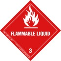 Hazardous Materials Label Class 3 Flammable Liquid Roll of 500 290/6-HML-R