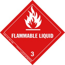Hazardous Materials Label Class 3 Flammable Liquid Roll of 500 6-HML-R