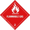 HazMat Label Class 2 Division 2.1 Flammable Gas Roll of 500 4-HML-R