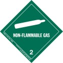 HazMat Label Class 2 Division 2.2 Non-Flammable Gas Roll of 500 5-HML-R
