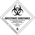 Infectious Substance HazMat Label Class 6 Division 6.2 35-HML-R