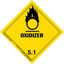 Oxidizer HazMat Label Class 5 Division 5.1 Roll of 500 9-HML-R