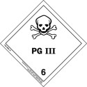 Poison HazMat Label Class 6 Division 6.2 Packing Group 3 736-HML-R
