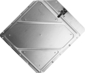 Riveted Aluminum Placard Holder Clipped Corners Placard Holder With Back Plate 4792/1-TPH-C