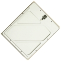 Riveted Aluminum Placard Holder With Back Plate - White Painted Aluminum 1-TPH-W
