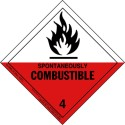 Spontaneously Combustible Class 4 Division 4.2 HazMat Label