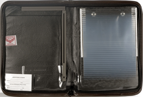 combination vinyl log book cover and document holder for your