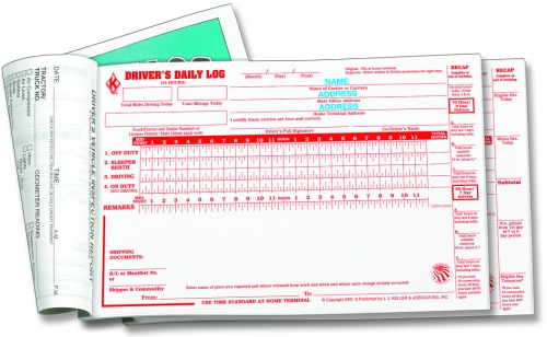622-LD Driver\'s Daily Logs With Detailed DVIR 3-Ply Book Format A ...