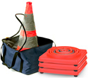 "28"" Collapsible LED Traffic Cone - 4-Pack 27079"
