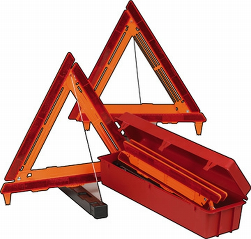 Tractor Reflective Triangles : Winter survival kit for the lazy susan space