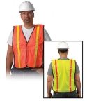 Safety Vest Standard Mesh Reflective 1 Size Fits Most 5982/10-SVO-R/10-SVL-R