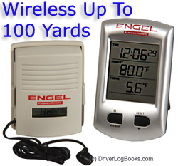 Engel Wireless Digital Thermometer & Clock ENGTHERM