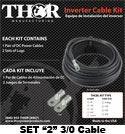 Thor 3/0 Cable Kit (Set of 2)
