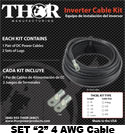 Thor 4 Awg Cable Kit (Set of 2)
