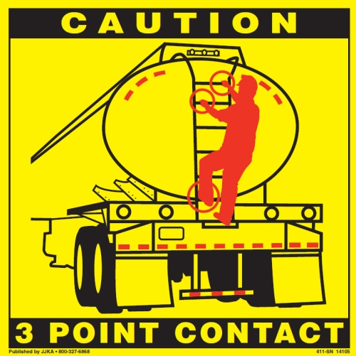Point Of Contact: 3 Point Contact Labels For Tractor, Tanker, Trailer
