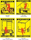 3 Point Contact Labels for Tractor, Tanker, Trailer