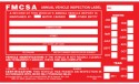 Annual Vehicle Inspection Label English Aluminum with Punch Boxes 1340/54-SN