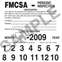 FMCSA Periodic Inspection Label Vinyl with Permanent Adhesive 4911/360-SN