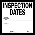 Inspection Dates Label Vinyl Backed with Temporary Adhesive 1240/46-SN